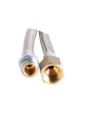 Gas Hose - 10mm Stainless Steel - 1700mm