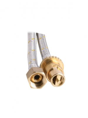 Bayonet Gas Hose - 10mm Stainless Steel - 1200mm