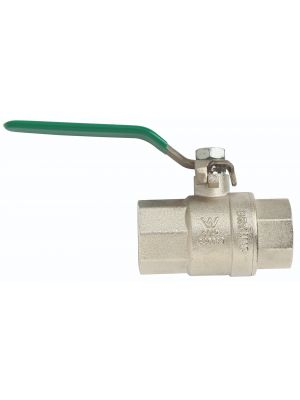 Ball Valve, Gas/Water, DR Brass, Lever Handle, MxF 1''