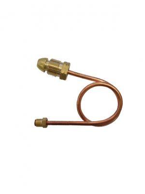 "6mm Copper Pigtail 5/16""-24 I/Flare x POL 600mm+Cap"