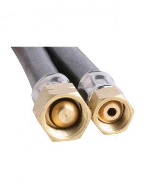 6mm PVC Gas Hose 1/4 BSP FC x 3/8 BSP LHF 1200mm