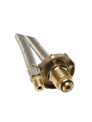 "6mm SS Pigtail 1/4"" NTP M x POL H/Wheel 600mm"