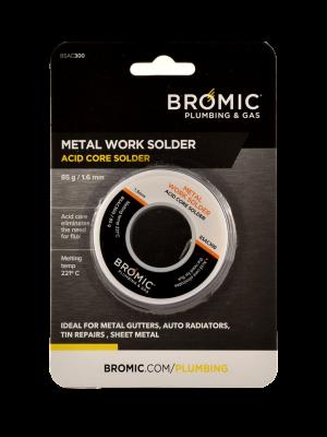 Bromic Metal Work Acid Core Solder 85g 1.6mm