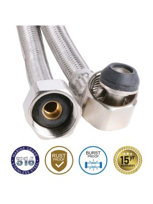8mm SS PEX PRO 316 Water Hose Elbow Connector 750mm