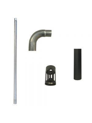 Stratos Brahma 3 & 5 Flue Kit - Parts Only